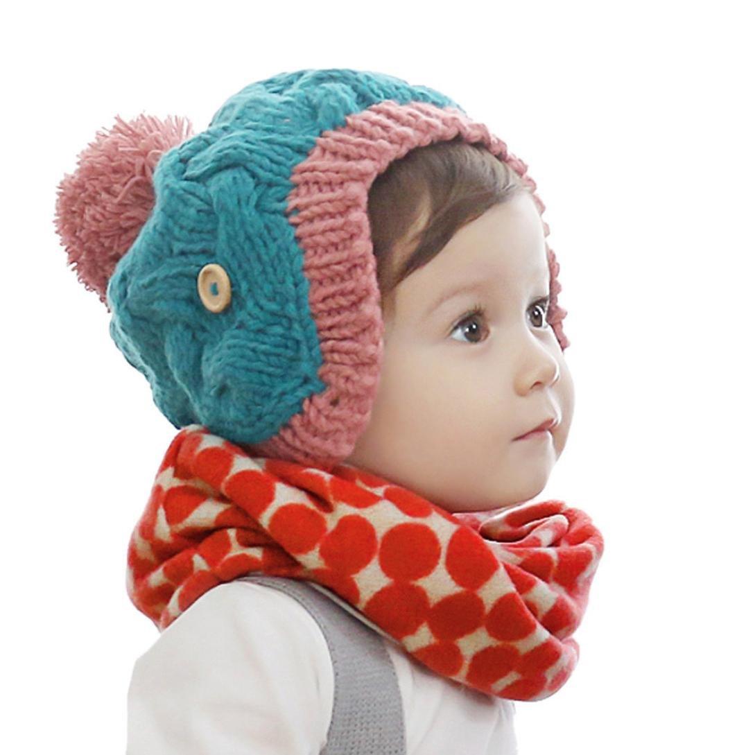 Culater® Autunno Inverno Bambini Stampa collare sciarpa a maglia O-ring del collo sciarpe Culater119