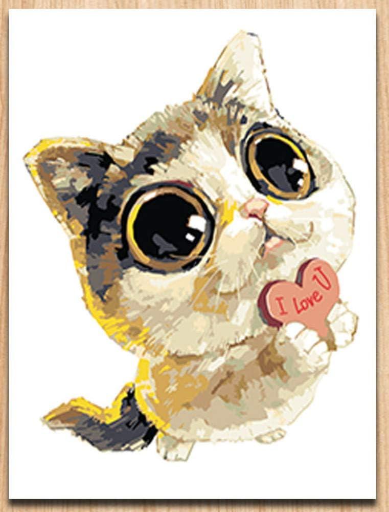 Pintura Digital por números Dibujos Animados Animal Perro Lindo ...