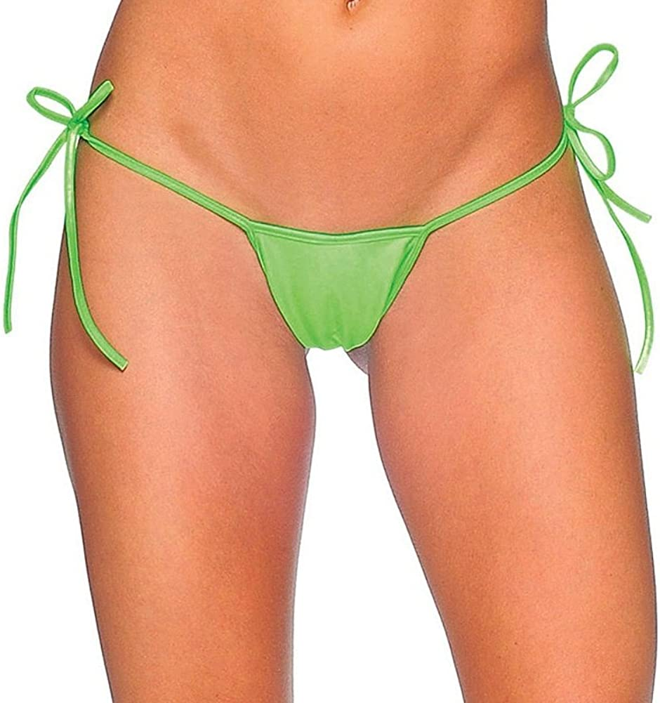 Neon Green One Size BodyZone Womens Tie-Side G-String