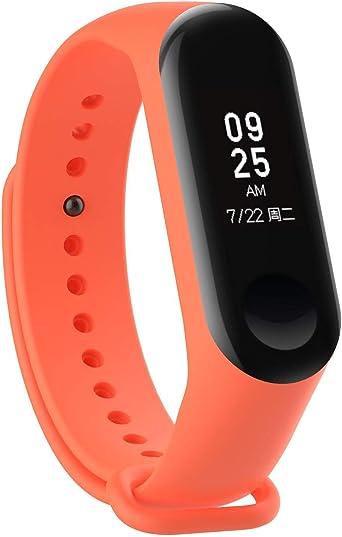 Recambio para Pulsera Actividad XIAOMI MI Band 3 SMARTWATCH MIBAND Correa Reloj (Naranja): Amazon.es: Relojes