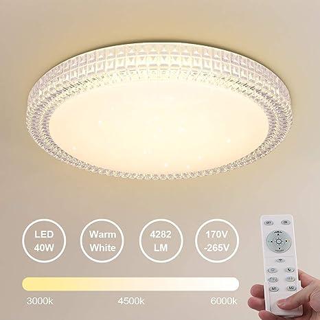 RGB LED Decken Lampe Wohnraum Kristall Leuchte quadratisch dimmbar Fernbedienung