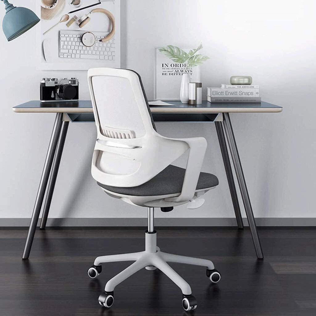 DBL Modern minimalistisk loungestol kontorsstol, fast armstöd, vattentätt tyg, lyft rotation 3 färger valfria skrivbordsstolar (färg: Röd) Orange