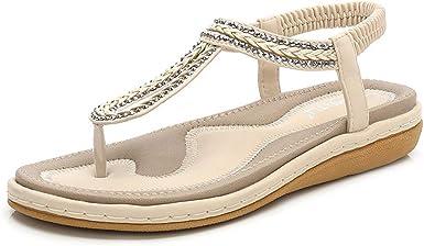 Darringls_Sandalias de Primavera Verano Mujer,Zapatos Casual de Mujer Sandalias de Verano para Fiesta y Boda Chanclas Sandalias Mocasines Sandalias de Mujer Verano Bohemia: Amazon.es: Ropa y accesorios