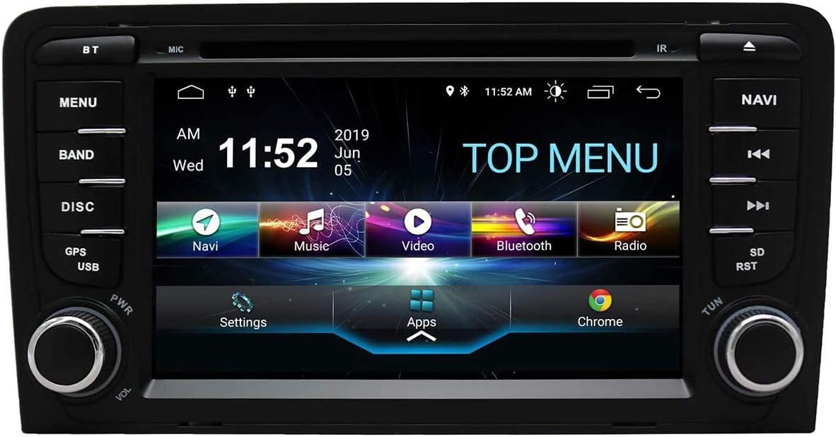 JIBO Android 10.0 Auto Estéreo GPS Navegación para A U D I A3 Nav Sat Cabeza Unidad 7 Pulgadas Tocar Pantalla Apoyo SWC Teléfono Control Multimedia Jugador Video Receptor