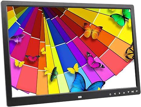 XH Botón táctil del álbum de Fotos Digital Pantalla LED de 17 Pulgadas de álbum de Fotos electrónico Imagen/Reproductor de música/Video Reloj Calendario Libro electrónico Pantalla de Publicidad,Black: Amazon.es: Deportes y aire