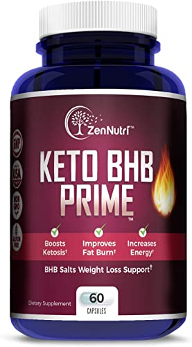 Premium Keto BHB Salts Exogenous Ketones Supplement, Jumpstart Ketosis Weight Loss Diet, Burn Fat for Energy, Improve Focus, 60 Count