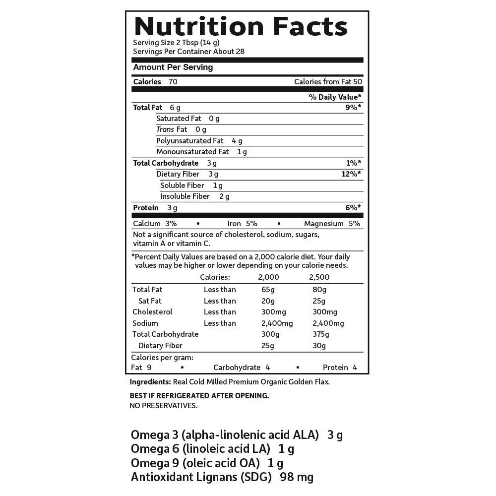 Oro orgánica semilla de lino, (14 oz 397 g) - Jardín de la Vida: Amazon.es: Salud y cuidado personal