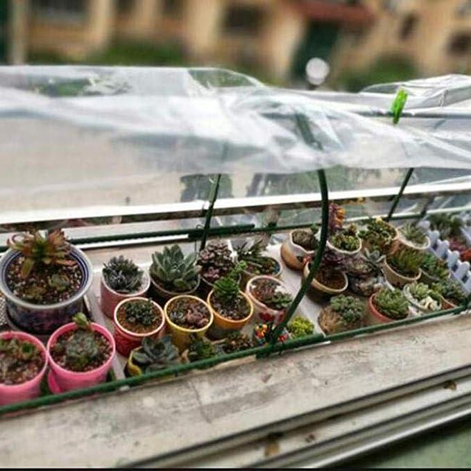 GFDGFDG con ojales para muebles de jard/ín cobertizo trampol/ín resistente Lona de polietileno transparente 2 x 1 m coche o jardiner/ía madera impermeable