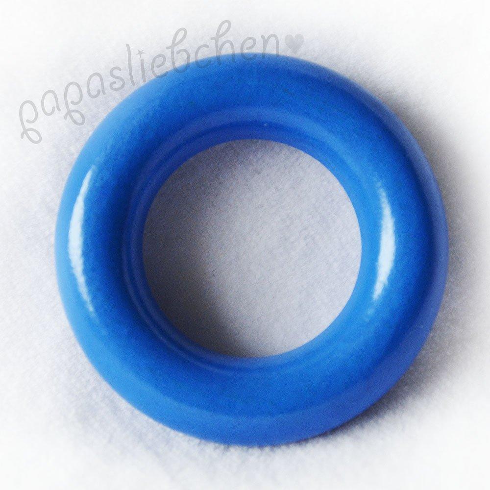 Papasliebchen Holzring XS ohne Bohrung (babyblau)
