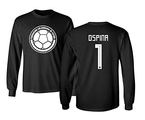 34b65f129b9 Tcamp Colombia 2018 National Soccer  1 David OSPINA World Championship Men s  Long Sleeve T-