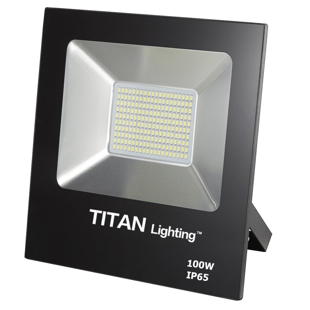 Titan Lighting Bronze Frameless 100W Led Flood Lights, 250W Hps/HID Replacement, 8500LM, 6000K Day Light, Waterproof, 120-277V, Instant on
