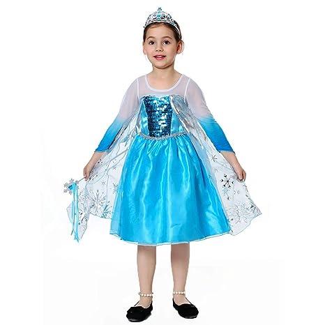 pretty princess Princesa Disfraz niña Azul Traje de Fiesta de la ...
