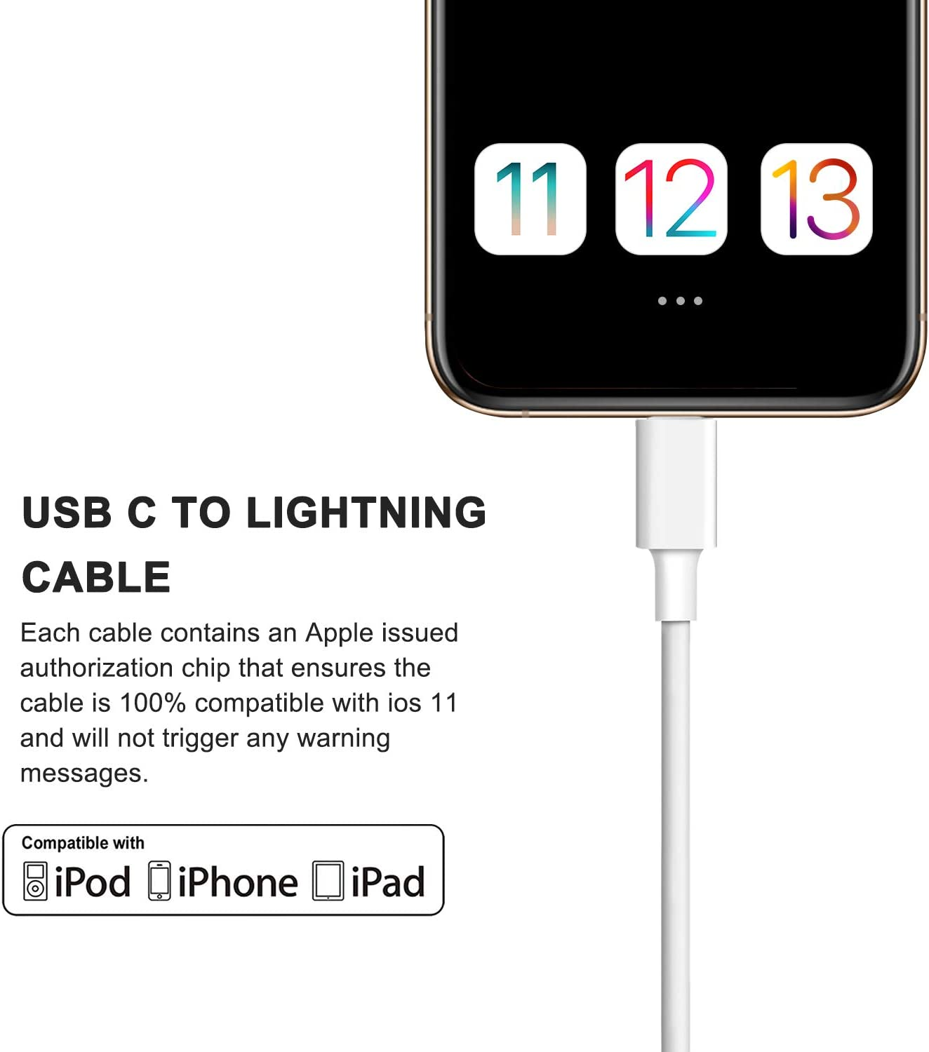 USB C Charger Sundix 18W PD Fast Charger Wall Plug with 3FT USB C to Lightning Cable MFi Certified Quick Charging Syncing Cord Compatible with iPhone 11//11Pro//11 Pro Max//Xs Max//XR//X// 8 Plus