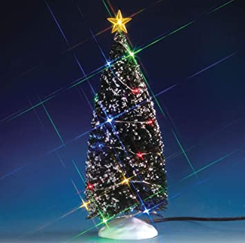 Image Unavailable - Amazon.com: Lemax - EVERGREEN TREE WITH 24 MULTI LIGHT, B/O (4.5V