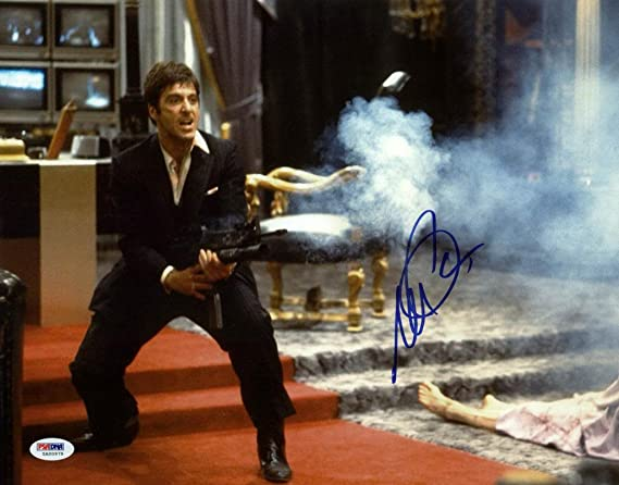 Al Pacino Scarface Signed Say Hello To My Little Friend 11x14 Photo