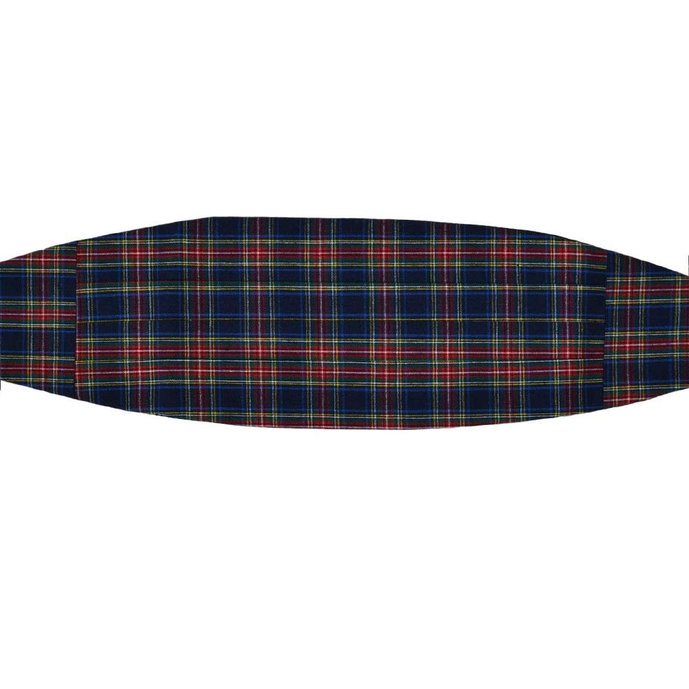 Traditional Navy Blue Tartan Cummerbund, Scotland King & Priory