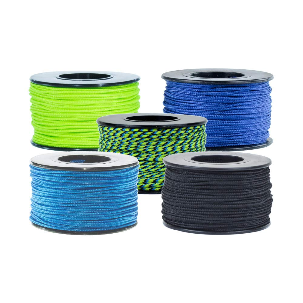 Micro Cord Multi Packs - 100 lb. Tensile Strength Micro Cord for Crafting and Utility Purposes - Packs Contain Varying Number of Micro Cord Spools Based on Selection (Aquatica Extended) by PARACORD PLANET