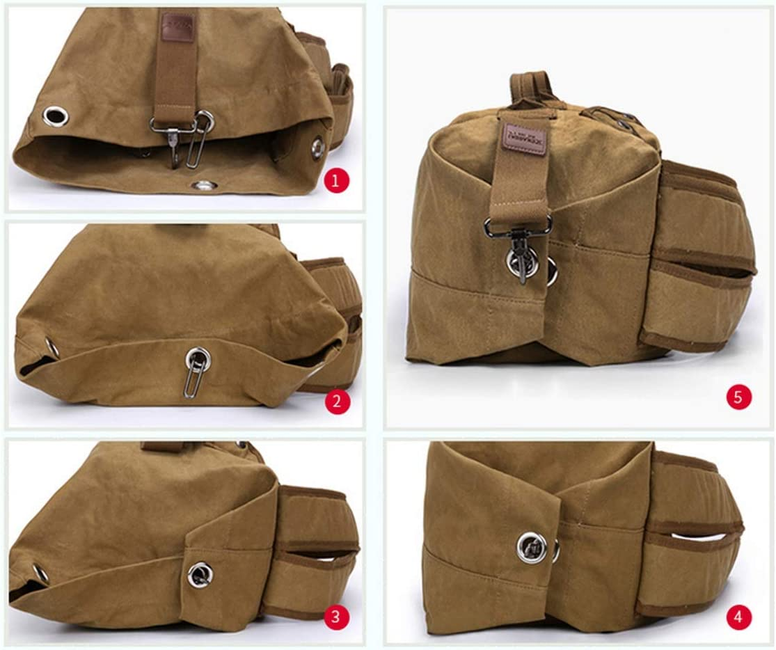 20 Inches Waterproof Moving Essential Xiaoningmeng Duffel Bag,Canvas Shoulder Bag Travel Travel Handbag Color : Black, Size : L Portable Large Capacity Wearable Classic Brown