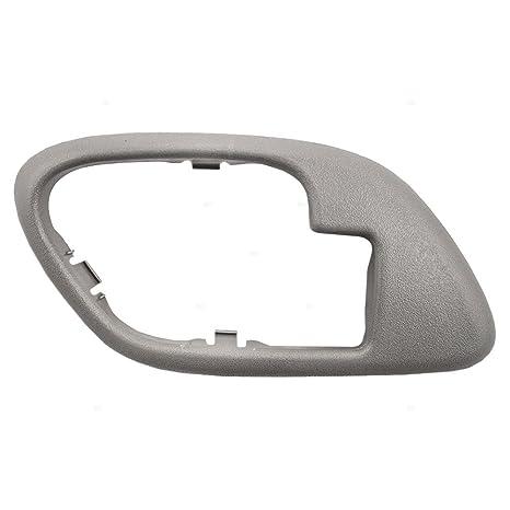 Controladores interior interior gris bisel embellecedor de tirador para puerta de repuesto para Cadillac SUV Chevrolet