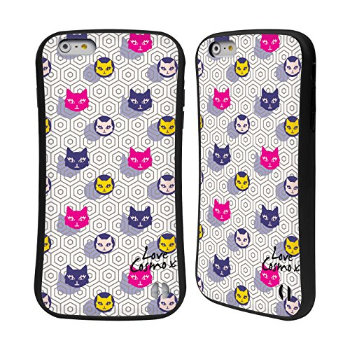 Official Cosmopolitan Cats And Shadows Totally 80S Hybrid Case for Apple iPhone 6 Plus / 6s Plus