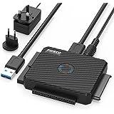 """FIDECO USB 3.0 a IDE e SATA Converter Hard Drive Adattatore per 2,5"""" e 3,5""""IDE/SATA HDD SSD, Incluso Adattatore di Alimentazione DC 12V 2A & Cavo USB 3.0"""