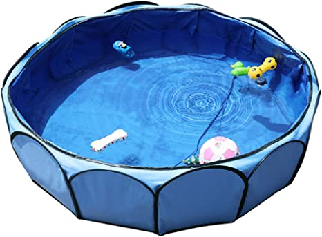 Amazon Com Petsfit Portable Outdoor Pool For Small To Medium Dog