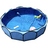 """Petsfit 41""""X12"""" Foldable and Portable Pet Non-Inflatable Swimming Pool/Ball Pit/Bathing Pool for Baby or Puppy Sky Blue"""