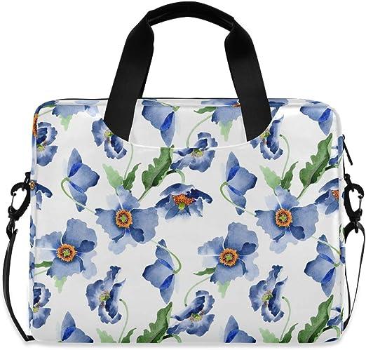 Dark Aqua Blue Green Daisy Rose Floral Leaf Medium Wood Handle BoHo Hobo Computer Notebook eBook Book Beach Gym Tote Bag OOAK