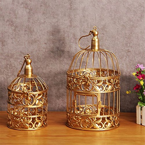 12 Pcs/set Golden Cake Stands and Pastry Trays,Metal Birdcage Cupcake Dessert Pedestal/Display/Plate/Stands and Trays with Crystals and Beads,Party Birthday Party Wedding Decorations for Tables by Gooday (Image #2)