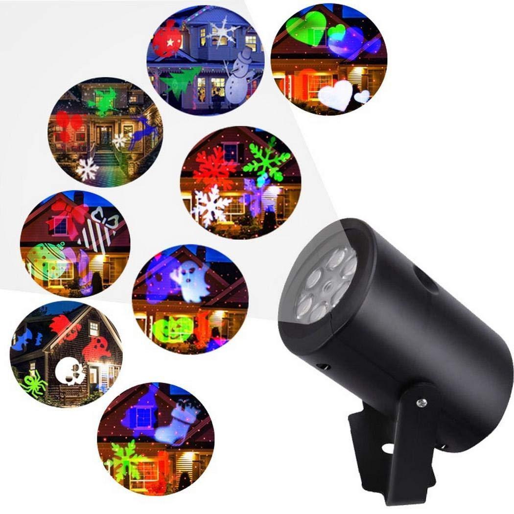 Acecor カラフルな12パターンRGB LEDステージライトプロジェクターランプ クリスマス装飾LED電球 B07H8WLL3W