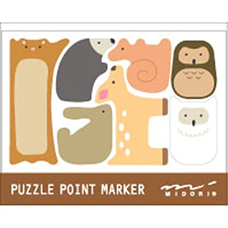 5c1fe93c3dfc Image Unavailable. Image not available for. Color: Midori Sticky Note Puzzle  Forest Animals ...