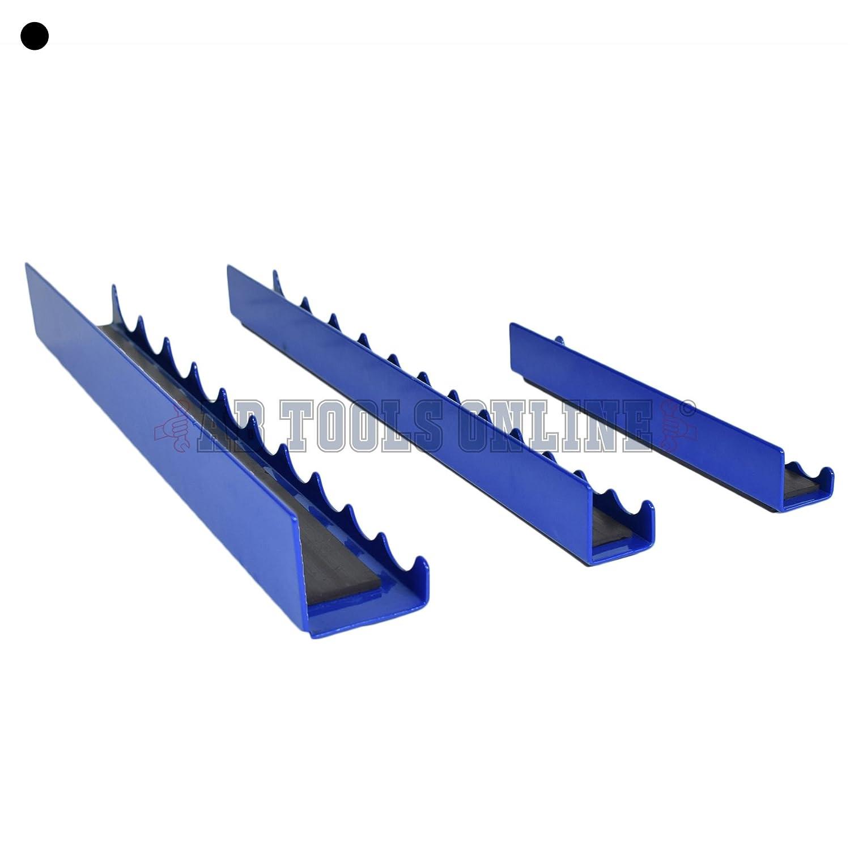 3pcs Magnetic Strip Rail Socket Holder Storage Tray 1//4 inch 3//8 and 1//2 Sockets