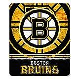 NHL Boston Bruins Fade Away Printed Fleece Throw, 50-inch by 60-inch