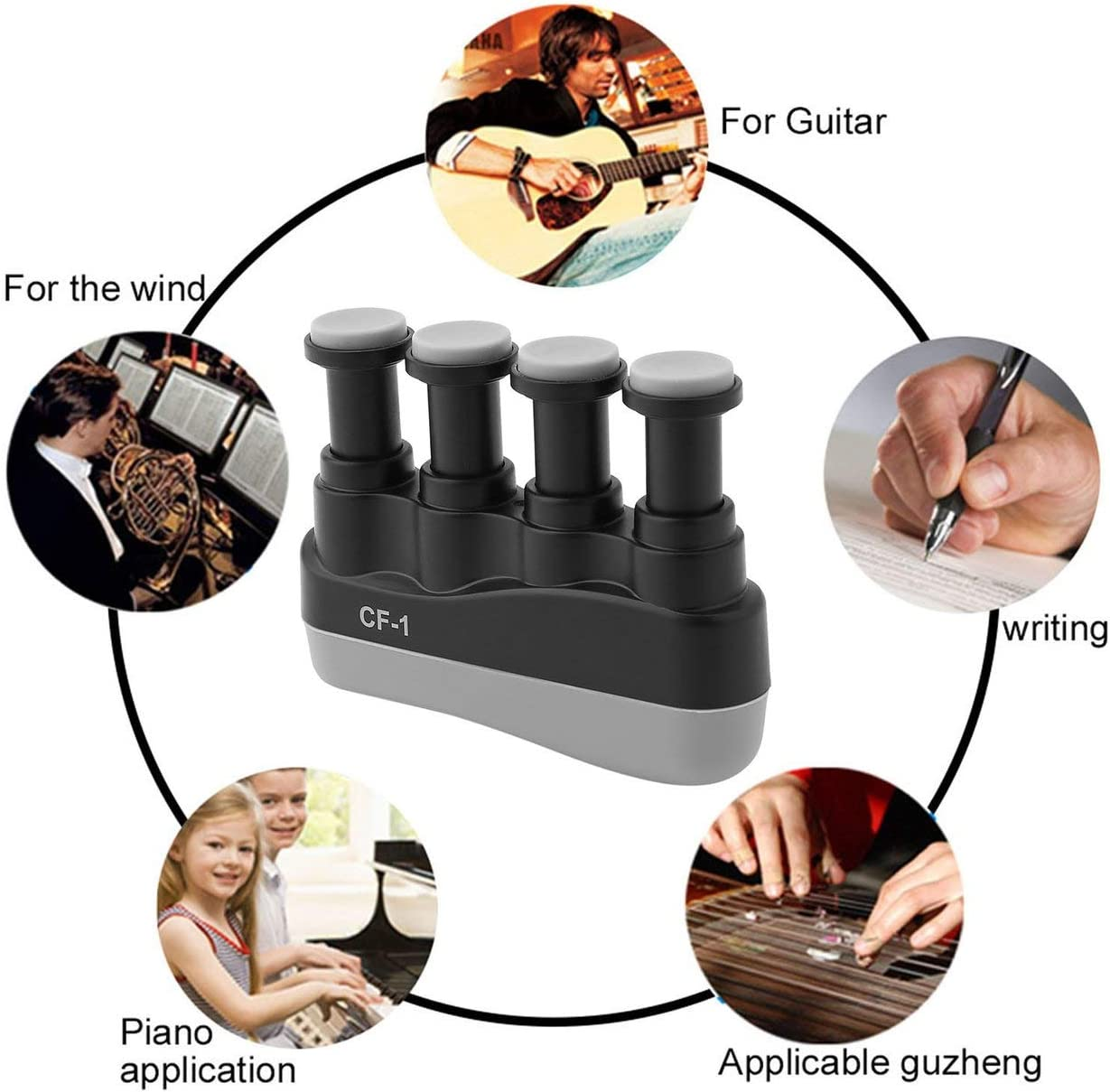 Detectorcatty Excellent Portable Guitar Bass Piano Hand Etc Music Instrument Finger Exerciser Tension Hand Grip Trainer Aroma