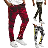 Shybuy Men's Stitching Camouflage Training Sports