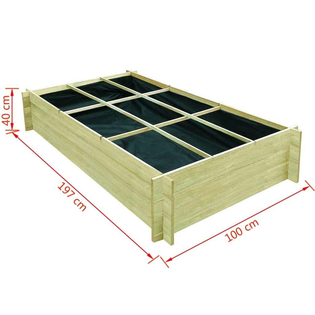 Decolla - Jardinera de Madera de Pino (197 x 100 x 40 cm): Amazon ...