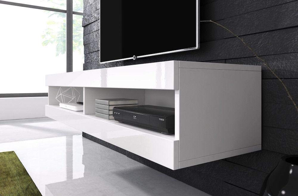 Gloss Floating TV Unit Cabinet Stand Volant 150 cm