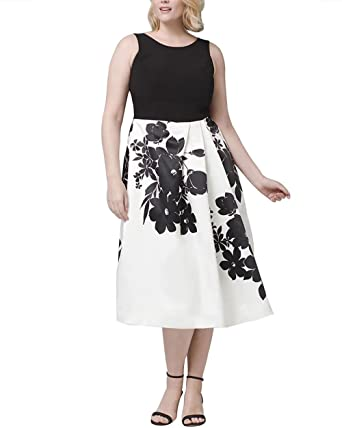 Cacncut Womens Plus Size Elegant Dresses Plus Exploded Floral Fit
