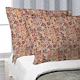 ArtzFolio Ethnic Africa Pillow Cover Cases Silk Fabric 27''x18'';SET OF 2;Without Filler