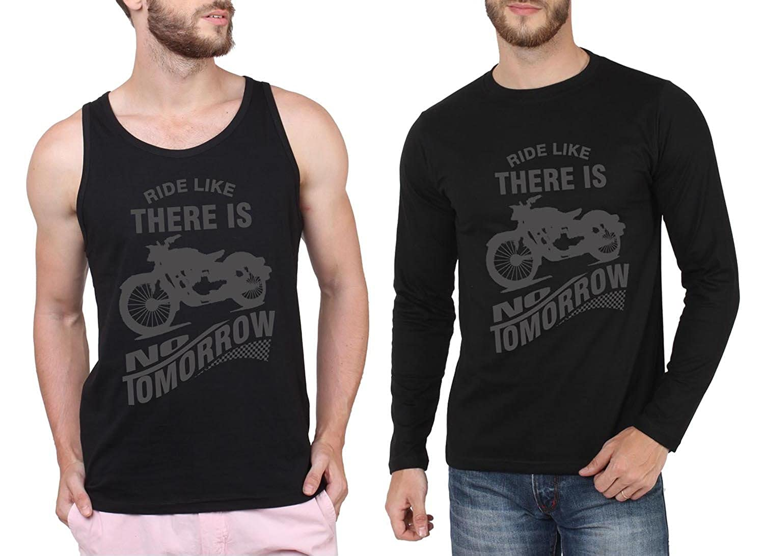 2a724b222eee Say It Loud Men's Printed Round Neck T-Shirts (Pack of 2)(C02RIDELIKEBLACKG4RIDELIKEBLACK-S_Small)  (Small) (X-Large): Amazon.in: Clothing & Accessories