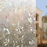 Rabbitgoo 3D Window Films Privacy Film Static Decorative Film Non-Adhesive Heat Control Anti UV 17.7In. By 78.7In. (45 x 200Cm) from GLOBEGOU CO.,LTD