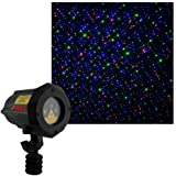Moving Firefly LEDMALL RGB Outdoor Garden Laser Christmas Lights with RF Remote Control and Security Lock