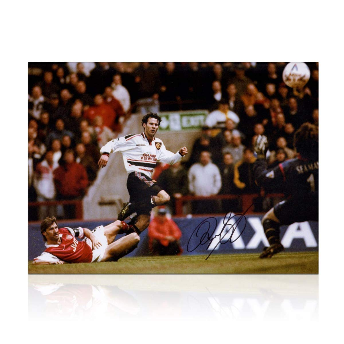Ryan Giggs Signed Manchester United Photo FA Cup Semi Final Wonder Goal
