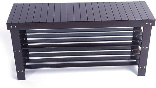 36″ Solid Wood Shoe Bench Storage Racks Seat Organizer Entryway Hallway Espresso