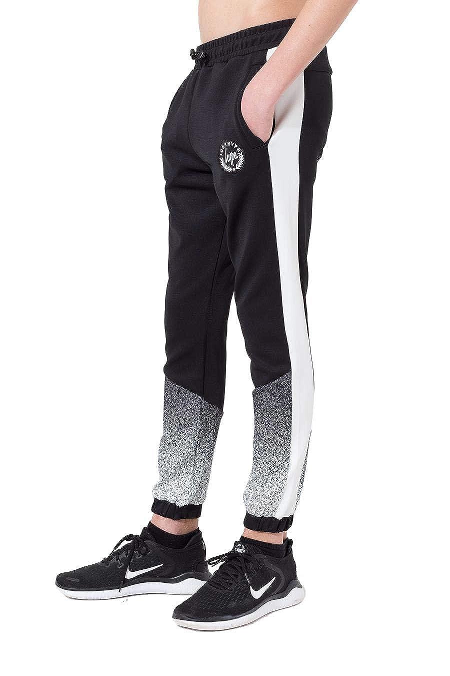 Hype Black Speckle Fade Crest Kids Track Pants