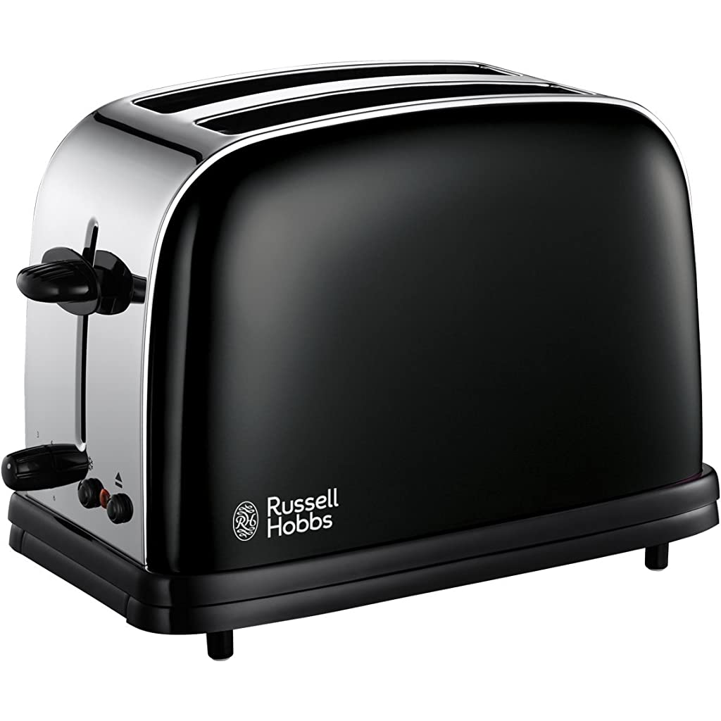 Russell Hobbs 14361 Colours Charcoal Black Toaster