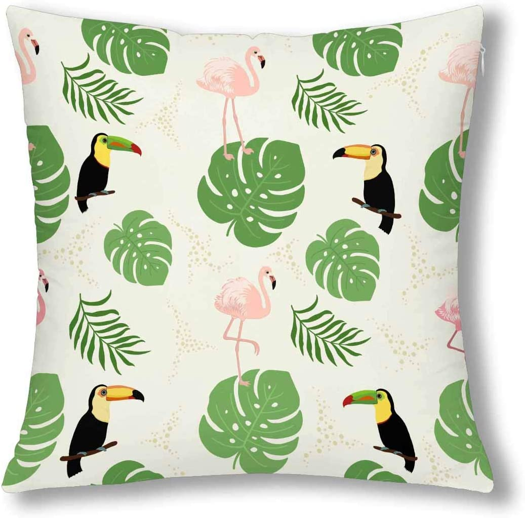 toucan tropical decorative cushion covers