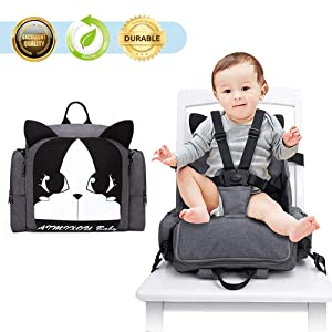 Hoomall Booster Seat Diaper Bag Backpack Multifunction Travel Backpack