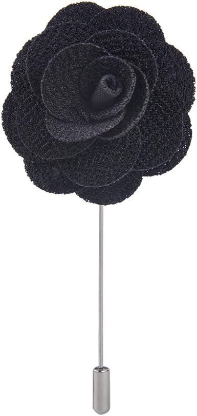Assorted Fashion Mens Lapel Flowers Handmade Boutonniere Stick Pin Wedding New