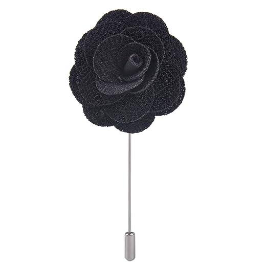 111f2891aea0e Men's Handmade Flower Lapel Pin Brooch Boutonniere Stick Wedding Tuxedo  Corsage Suit ciciTree